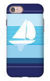 Navy Sail iPhone 7 Case by  Avalisa