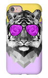 Party Tiger in Glasses iPhone 7 Case by Lisa Kroll