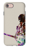 Hendrix With Guitar Watercolor iPhone 7 Case by  NaxArt