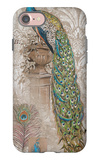Peacock on Linen 2 iPhone 7 Case by Chad Barrett