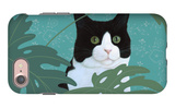 Black and White Cat with Green Eyes iPhone 7 Case