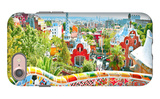 The Famous Summer Park Guell Over Bright Blue Sky In Barcelona, Spain iPhone 7 Case by  Vladitto