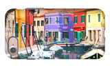 Burano Village iPhone 7 Case by Shelley Lake
