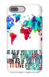 World Map Quote Mahatma Gandi iPhone 7 Plus Case by  NaxArt