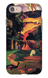Landscape with Peacocks iPhone 7 Case by Paul Gauguin