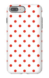 Red Polk-a-dots iPhone 7 Plus Case by  Avalisa