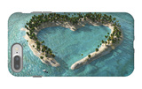 Aerial View Of Heart-Shaped Tropical Island iPhone 7 Plus Case by  Mike_Kiev