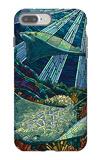 Rays - Paper Mosaic iPhone 7 Plus Case by  Lantern Press