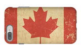 Canadian Aged Flat Flag iPhone 7 Plus Case by  nazlisart