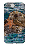 Sea Otter - Paper Mosaic iPhone 7 Plus Case by  Lantern Press