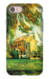 Farmhouse and Chestnut Trees at Jas de Bouffan iPhone 7 Case by Paul Cézanne