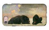 Grizzly Bears iPhone 7 Case by Albert Bierstadt