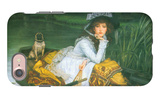 A Young Woman in a Boat iPhone 7 Case by James Tissot