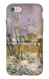 Snow in Rue Carcel iPhone 7 Case by Paul Gauguin