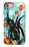 Tulips in a Vase iPhone 7 Case by Paul Cézanne