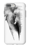 Artistic Black And White Elephant iPhone 7 Plus Case by  Donvanstaden