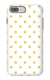 Yellow Polk-a-dots iPhone 7 Plus Case by  Avalisa