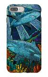 Black Tip Reef Shark - Paper Mosaic iPhone 7 Plus Case by  Lantern Press