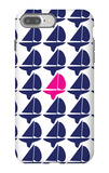 Navy Pink Regatta iPhone 7 Plus Case by  Avalisa
