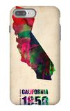 California Watercolor Map iPhone 7 Plus Case by  NaxArt