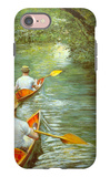 Canoeing iPhone 7 Case by Gustave Caillebotte