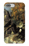 Rock in the Forest of Fontainbleau iPhone 7 Plus Case by Paul Cézanne