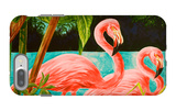 Hot Tropical Flamingo II iPhone 7 Plus Case by Linda Baliko