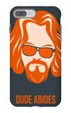 Dude Abides Orange Poster iPhone 7 Plus Case by Anna Malkin