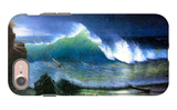 The Coast of the Turquoise Sea iPhone 7 Case by Albert Bierstadt