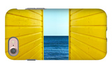 2 Yellow Beach Huts iPhone 7 Case by Andy Bell