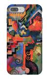 Colored Composition (Hommage à Sebastin Johann Bach) iPhone 7 Plus Case by Auguste Macke