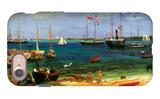 Nassau Port iPhone 7 Case by Albert Bierstadt