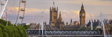 Westminster Palace, Big Ben, London Eye, Hungerford Bridge, London, England, Great Britain Photographic Print by Rainer Mirau