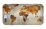 Grunge Map Of The World iPhone 7 Plus Case by  javarman