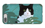 Black and White Cat with Green Eyes iPhone 7 Plus Case