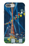 Space Needle Worlds Fair Poster - Seattle, WA iPhone 7 Plus Case by  Lantern Press