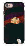Lady with Hat and Feather iPhone 7 Case by Gustav Klimt