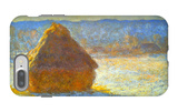 Haystack, Morning Snow Effect iPhone 7 Plus Case by Claude Monet