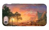 The Oregon Trail iPhone 7 Case by Albert Bierstadt
