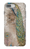 Peacock on Linen 2 iPhone 7 Plus Case by Chad Barrett