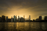 Sunset Above Manhattan, New York, Usa Photographic Print by Benjamin Engler