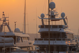 Monaco, Monte Carlo, Harbour, Luxury Yachts, Detail Photographic Print by Chris Seba