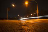 Long Time Exposure, Street with Lantern and Car Photographic Print by Benjamin Engler