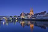 Germany, Bavaria, Upper Palatinate, Danube, Regensburg (City Photographic Print by Udo Siebig
