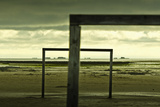 Germany, Schleswig-Holstein, Amrum, Sandy Beach, Sandbank, Kniepsand, Wooden Gates Photographic Print by Ingo Boelter