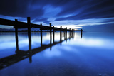 Germany, Bavaria, Lake Chiem, after Sundown with Overseas Photographic Print by Andreas Vitting