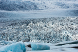 Glacier Lagoon Fjallsarlon, Fjallsjškull Calving into the Lake Photographic Print by Catharina Lux