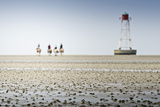 Germany, Schleswig-Holstein, Pellworm, Mud Flats, Rider Photographic Print by Ingo Boelter