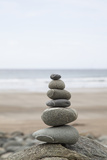 Stone Tower, Balance, Pebble Stones, Beach Photographic Print by Andrea Haase