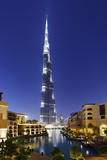 Burj Khalifa, the Highest Tower of the World, Night Photograph Photographic Print by Axel Schmies